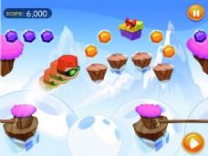雪山跑酷手游界面设计UI设计EPS矢量