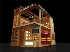 两层企业室外模型