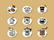 咖啡图标矢量素材