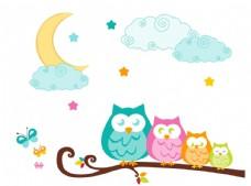 黑夜猫头鹰插图