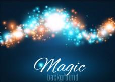 多彩闪耀魔法光效背景矢量素材
