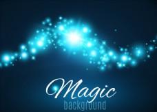 蓝色闪耀唯美魔法光效背景
