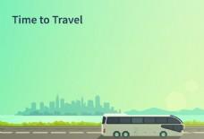 扁平化快乐旅行海报背景素材