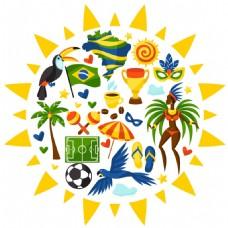 时尚特色巴西旅行背景