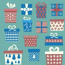 手绘圣诞礼品盒