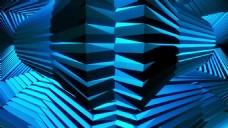 蓝色动感光效背景素材