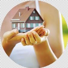 手捧房子图片免抠png透明图层素材