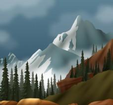 白色大自然风景背景素材