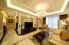 经典轻奢欧式风格客厅吊灯效果图