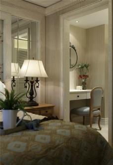 经典大气欧式风格卧室台灯装修效果图