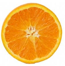 半个橘子透明水果素材