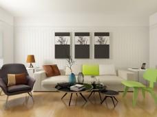 客厅沙发组合模型