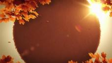 温暖秋日秋景背景素材