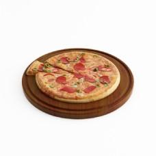 特色香肠芝士披萨模型