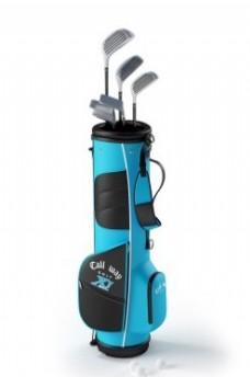 蓝色时尚包装高尔夫球杆模型素材