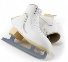 白色休闲滑冰鞋模型素材