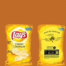 薯片黄色包装袋设计模型