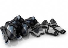 时尚轮滑器材模型素材
