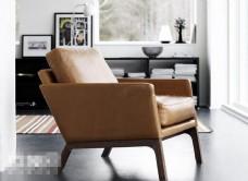 北欧风格舒适单人沙发椅3d模型