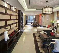 中式经典时尚客厅吊灯效果图