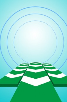 电商蓝绿背景
