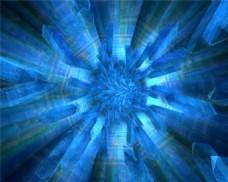 蓝色动态光效背景视频素材