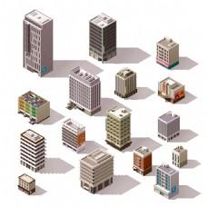 城市规划房地产设计矢量素材