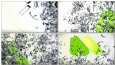 灰绿背景视频素材