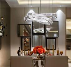 现代创意北欧风格水晶吊灯装饰设计效果图