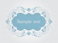 向量的邀请卡或婚礼卡优雅的花香元素。阿拉伯风格设计。精美的抽象花卉饰品。设计元素。矢量复古框架