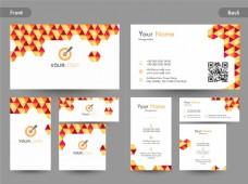 创意名片、名片或名片,带前后页。