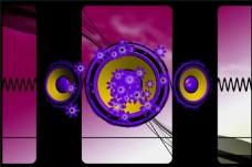 动态圆圈光效背景素材