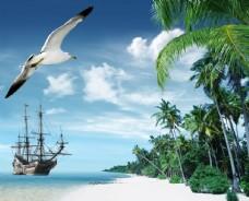 海歐風景圖