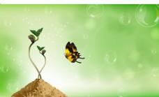 种子发芽春天气息背景矢量素材