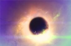 现代科技绚丽色彩星球星空背景